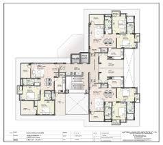 Narrow Block Floor Plans by Floor Plan Unique Harmony Apartments Jaipur Residential