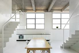 white loft loft for beautiful apartment interior style by adn architectures