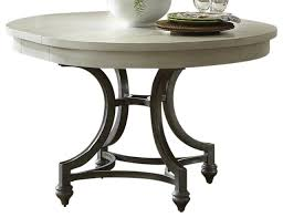 liberty furniture harbor view iii round dining table dove gray