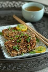 cuisiner le tofu ferme tofu ferme pané aux sésames doré noir smoothie banane pomme