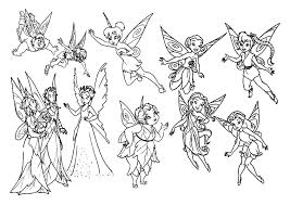 coloring pages tinkerbell fairy friends bebo pandco