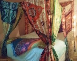 Bohemian Bed Canopy Bohemian Bed Canopy Etsy