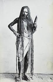 in long hair file sadhu with long hair india ca 1920 imp cscnww33 os16 28