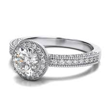 circle engagement ring with halo exquisite wedding rings engagement rings halo