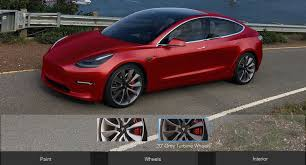 unofficial configurator lets you build your own tesla model 3