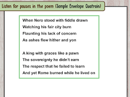 how to identify the verse in a song or poem 8 steps