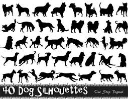 25 dog silhouette ideas vinyl decals