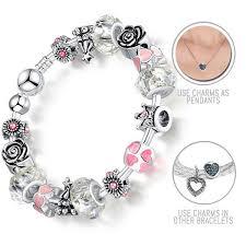 pandora style bracelet clasp images I am your valentine silver pandora style bracelet bangle combo jpg
