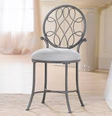 Vanity Chairs For Bathroom Hillsdale O Malley Vanity Stool In Gray Beyond Stores