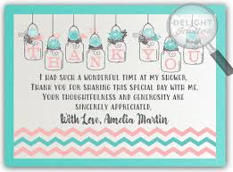 bridal shower thank you cards aqua and coral jar bridal shower thank you cards di 1514ty