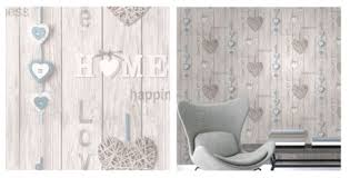 love your home white blue wood panel shabby chic wallpaper fine