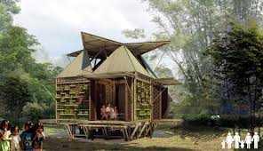 project houses a residential project in vietnam bamboo houses for flood prone