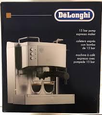 espresso coffee brands delonghi ec702 5 cups coffee u0026 espresso combo silver ebay