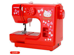 hello kitty x janome compact sewing machine ribbon red sanrio