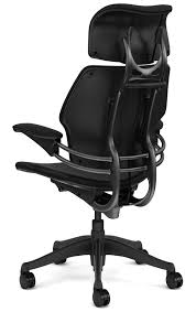 desk chair with headrest humanscale freedom chair with graphite frame office furniture scene