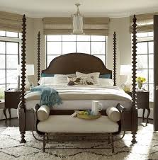 Four Poster Bedroom Sets Sonoma Four Poster Bed Frame Zin Home