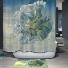 sale peacock pattern printing waterproof shower curtain