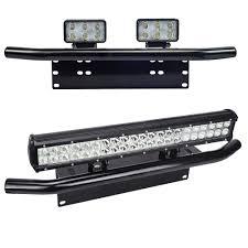 jeep light bar bumper universal license plate mounting bracket front bull bar bumper