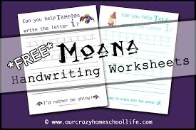 weekly free moana handwriting worksheets release the letter m