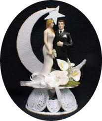 moon cake topper plus size curvey groom wedding cake topper moon