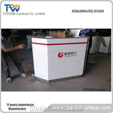 Marble Reception Desk China Factory Direct Cheap Price Artificial Marble Stone Curved