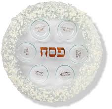 passover seder supplies passover gifts judaica fused glass passover seder plate white