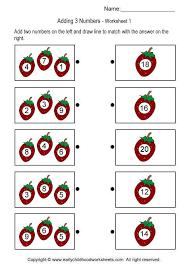 adding three numbers brain teaser worksheets 1