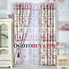 Curtains For Kids Bedroom Cartoon Rainbow Clouds Embroidered - Room darkening curtains for kids rooms
