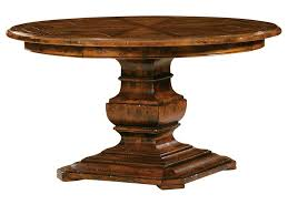 funiture oval brown wooden single pedestal kitchen tables for