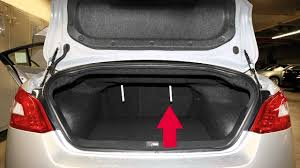 nissan altima coupe trunk 2013 nissan maxima folding down the rear seats youtube