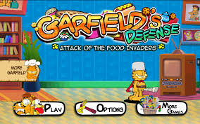 amazon com garfield u0027s defense attack of the food invaders