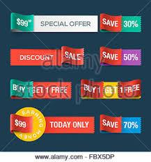 ribbons for sale sale orange and corner ribbon stock vector illustration