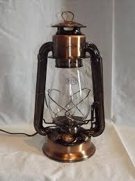 Steampunk Desk Lamp Dietz Junior U0027vintage Style U0027 Electric Lantern Table Lamp Copper
