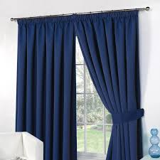 Lined Curtains Thermal Pencil Pleat Blackout Pair Curtains Ready Made Fully Lined