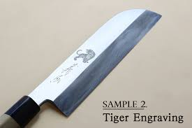 engraved kitchen knives name engraving service yoshihiro cutlery
