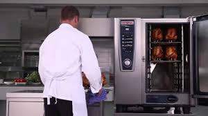 cooking roast chicken using a rational selfcookingcenter