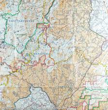 National Geographic Map Trail Map Of Springer And Cohutta Mountains Georgia 777