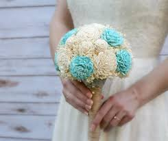aquamarine wedding ready to ship aquamarine wedding bouquet lasting wedding flowers