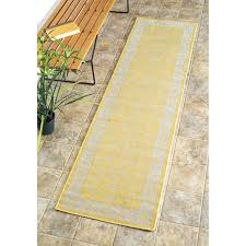 Modern Indoor Outdoor Rugs Nuloom Traditional Modern Indoor Outdoor Yellow Porch Runner Rug