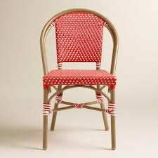 Single Bistro Chair Barbados Cherry Kaliko Bistro Chairs Set Of 2 World Market