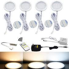 puck led under cabinet lighting under cabinet puck lights 2700k 6500k adjustable aiboo