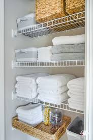 Closet Bathroom Ideas Organized Bathroom Linen Closet Anyone Can Kelley Nan