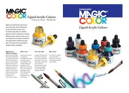 Color Or Colour by Magic Color Introductory Set 8 Bottles 28ml Of Liquid Acrylic