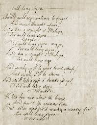 robert burns halloween poem translation auld acquaintance for the new year burns u0027s auld lang syne