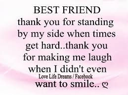 best friend posts best friend thank you for standing by my