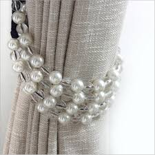 Hanging Curtain Tie Backs One Pair Pearl Tie Back For Decoration Curtain Clips Accessories