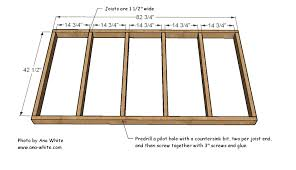 Free Instructions On How To Build A Platform Bed by Ana White Easiest Hanging Daybed Diy Projects