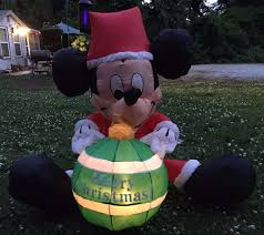 mickey mouse inflatable gemmy disney holiday yard decor christmas