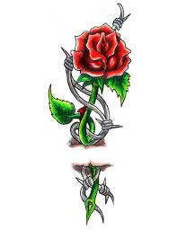 barbwire rose tattoo google search inked out pinterest