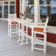 Bar Height Patio Table And Chairs by Polywood Captain Bar Height Bistro Set Pw Captain Set4
